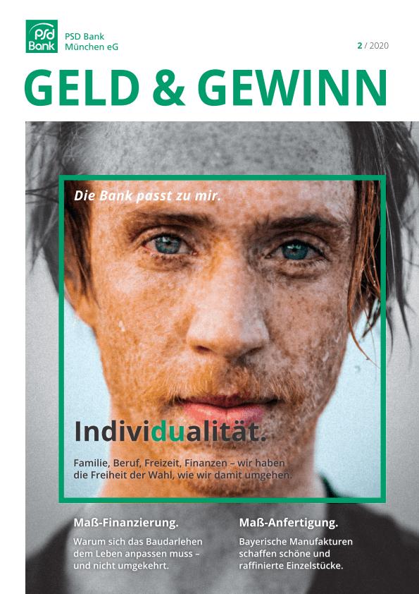 Geld & Gewinn - Kundenmagazin der PSD München.Aktuelle Ausgabe