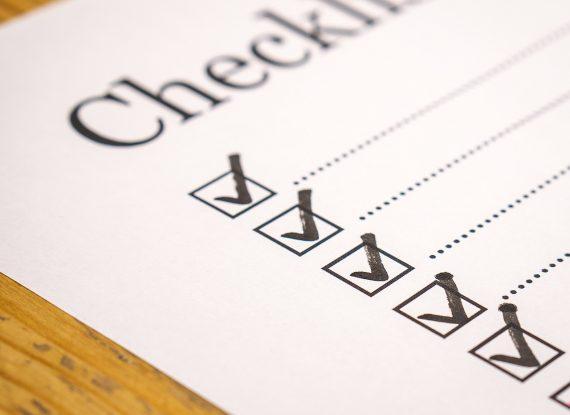 Abgehakte Checkliste