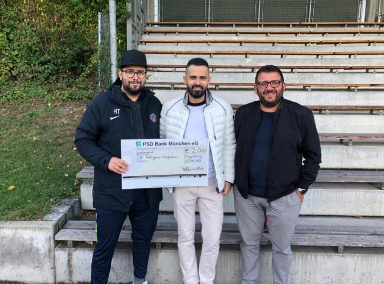 2.000 Euro für den SV Türkgücü Königsbrunn