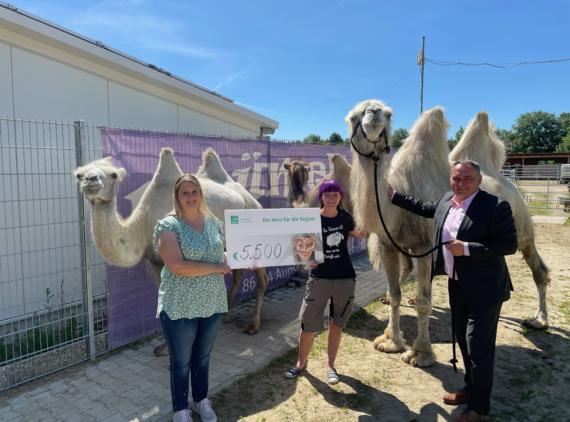 Spendenübergabe - Verein für tiergestützte Interaktion